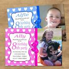 Personalised Photo Birthday Party Invitations For Any Age 1st 2nd 3rd 7th(BIO3P)