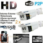 TELECAMERA IP CAMERA HD 720P WIRELESS LED IR WIFI RETE
