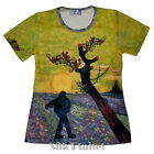 VINCENT VAN GOGH Sower Sunset TOP TEE T SHIRT FINE ART PRINT PAINTING GIFT