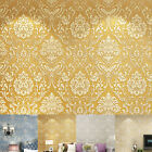 10M Damask Embossed Textured Non-woven Wallpaper Rolls Background Wall Decor
