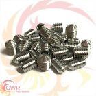 M3 M4 M5 M6 A2 Stainless Cone Point Grub Screws - Hex Socket Set Screw Din 914