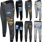 New Mens DL Funk Camouflage Sports Running Jogging Rib Gym Trousers Sweatpants
