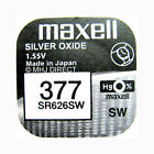 MAXELL 377 SR626SW AG4 Silver Oxide Watch Batteries SELECT 1 2 3 4 5 & 10 x QTY