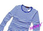 HOT Mens Striped Military Casual Shirts Long Sleeve Navy Tops Leisure T-Shirts