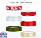 Christmas ribbons, rudolf, saddle stitch, FULL REEL & Meters