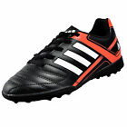 Adidas Puntero IX TF Turf Junior Kids Boys Football Trainers Black Solar Red