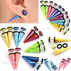 2Pc Colorful Spot Taper Stretcher Fake Cheater Ear Plugs Gauges Earring Piercing