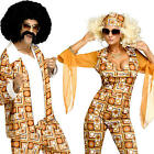 Disco Diva Or Dude Adults Fancy Dress Dance 1970s 70s Ladies Womens Mens Costume