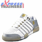 K Swiss Gstaad Womens Classic Leather Tennis Court Trainers White