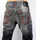 True Religion Men's Ricky Straight Super T Heavily Distressed Jeans - M859NVQ6