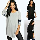 Fashion Ladies Baseball Raglan Long Sleeve T-Shirt Women Stretch Cotton Long Tee