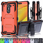 Hybrid Protective Hard Case Cover +Belt Clip Holster For ZTE Zmax Pro Z981 Phone