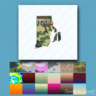 Rhode Island Home State - Decal Sticker - Multiple Patterns & Sizes - ebn3841