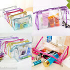 Waterproof Cosmetic Bags Womens Daily Transparent Travel Makeup Toiletry Case