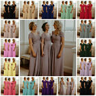 New Chiffon Bridesmaid Dress Wedding Maxi Length Formal Party Prom Evening Gown