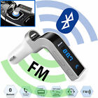Wireless Hands-free Bluetooth FM Transmitter with Car Charger Kit MP3 Player USA