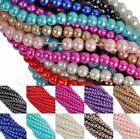 Free Ship 100Pcs 12 Color Pearl Round Spacer Beads for jewelry making 4-8mm NEW