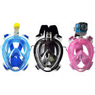 Full Face Snorkel Mask with GoPro Mount Built in Ear Plugs Free Breathe Design