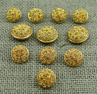 Bouton ronde Embellissement Or Crafting Couture Boutons Shank Métal Blazer