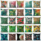 "18""Plant Leaves Flower Cotton Linen Pillow Case Cushion Cover Fashion Home Decor"
