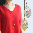 Fashion Women's Girl Gold/Silver Plated Chain Pendant Leaves Hollow Necklace