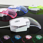 2016 Cute Transparent Colorful LED USB Optical Wired Mouse Mice For PC Laptop