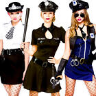 Sexy Police Woman Lady Officer Ladies Fancy Dress Cops Uniform Adults Costumes