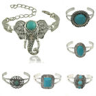 Fashion Vintage Womens Lady Open End Cuff Bracelet Bangle Jewelry Boho Gift AU