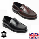 Lucini Men's Goodyear Welted Italian Leather Penny Loafer Black & Oxblood