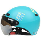 F#82 Retro Motorbike Moto Casque Motorcycle Matt Sky Lake Blue Eyes Helmet Adult