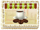 COFFEE CUP Edible image cake topper design