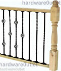 BLACK Steel Twisted  Bar & Twisted Baskets 12 mm  Balustrade Staircase Decking