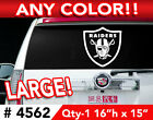 """OAKLAND RAIDERS LARGE DECAL STICKER 16""""h x 15""""w ANY 1 COLOR $19.99 USD on eBay"""