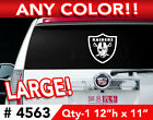 """OAKLAND RAIDERS LARGE DECAL STICKER 12""""h x 11""""w ANY 1 COLOR $13.99 USD on eBay"""