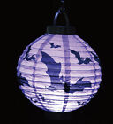 Halloween LED Paper Pumpkin Hanging Lantern DIY Holiday Party Decoration Scary