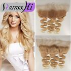 "613 Blonde Body Wave Lace Frontal Vietnam Virgin Hair Frontal Ear to Ear  13""x2"""