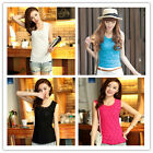 Fashion Women's Sleeveless Lace Flower Casual Loose T Shirt Tops Vest Blous v1