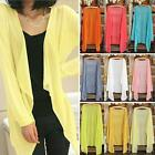 Womens Casual Long Sleeve Cardigan Very Thin Sweater Coat Outwear Tops v3