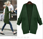 New Women Oversized Loose Knitted Sweater Batwing Sleeve Tops Cardigan Outwear
