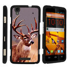 For ZTE Max Boost N9520 Case Hard Snap On 2 Piece Slim Shell Deer Hunting Leaves