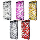 Crystal Luxury Chrome Hollow Pattern PC Hard Back Case Cover For iPhone 5 5G 6th