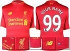 *16 / 17 - NEW BALANCE ; LIVERPOOL HOME SHIRT SS / PERSONALISED = SIZE*