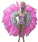Elegant Samba Carnival Love Heart Feather Fur Costume Set Rio