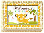 BABY LION Baby shower PARTY Edible image cake topper decoration