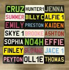 """9x3"""" Childrens Personalised Plastic Name Number Plate Kids Ride On Electric Car"""