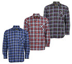 Baum Country Clothing Mens 100% Cotton Printed Flannel Long Sleeve Check Shirt