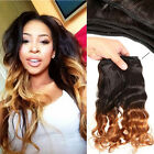 1b#27 Ombre 100g/bundle body brazilian human hair wet and Loose  wavy weave
