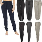 Womens Ladies Sports Girls Side Pockets Plain Sweatpants Sports Bottoms Trousers