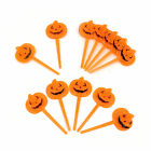 Orange Pumpkin Cocktail Food Picks Halloween Cupcake Toppers