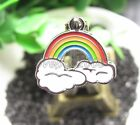 Wholesale Rainbow Metal Charms Pendants DIY Jewelry Making Party Gifts R68